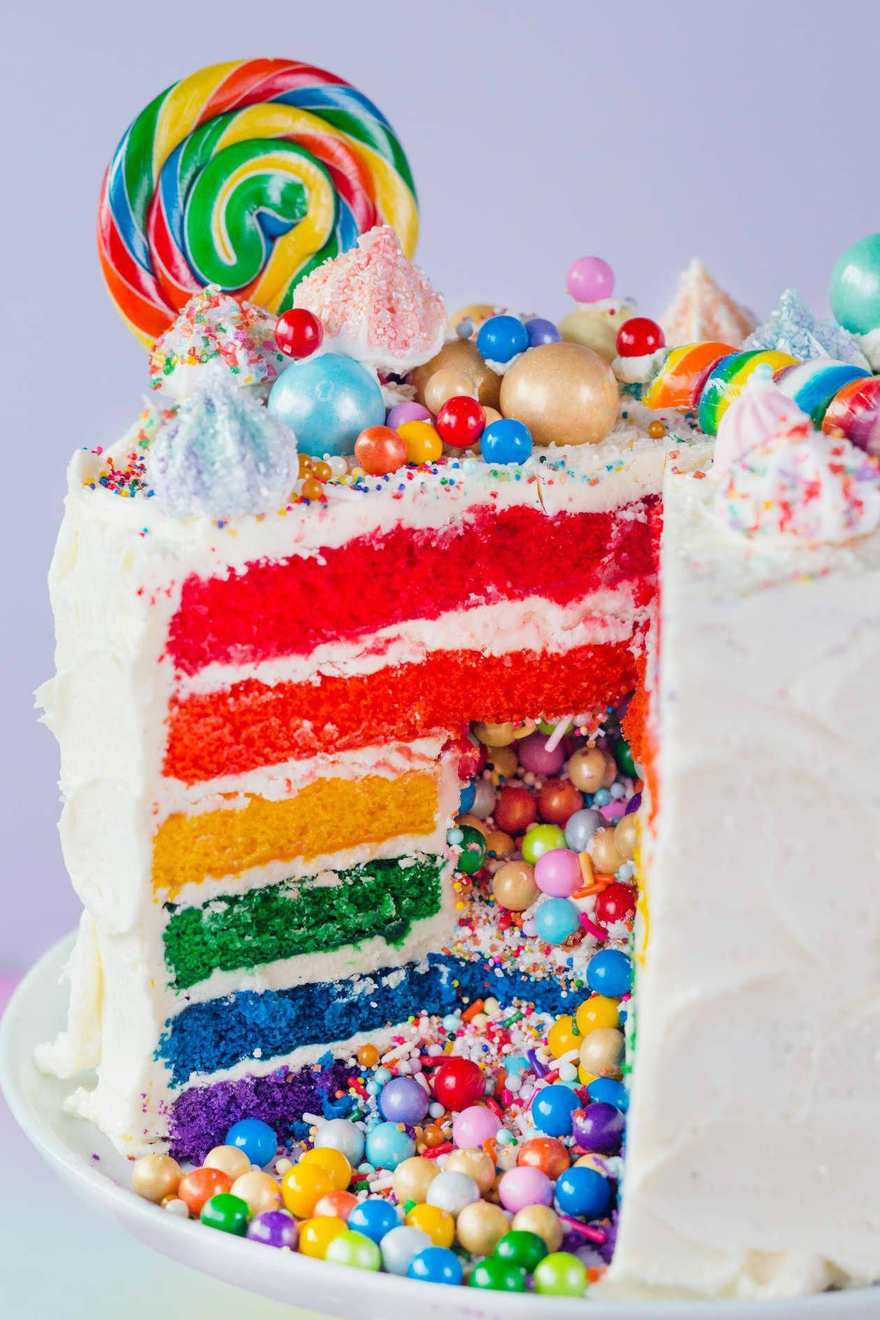 Photo of How To Make a Rainbow Layer Cake with a Candy Surprise Inside | Kitchn #lawercak…