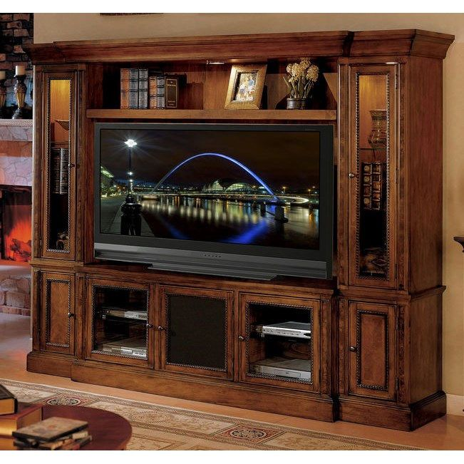 """Legends Cambridge 97"""" Wall Unit - Chestnut - Made in USA"""