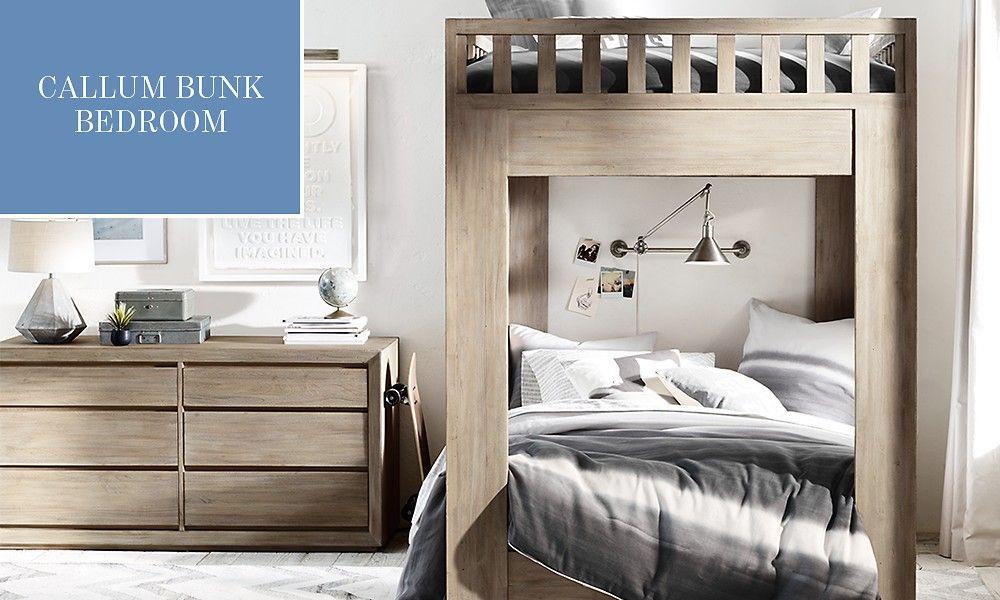 Callum Bunk Bedroom Sandwashed Grey Bunk Beds Bunk Beds Built