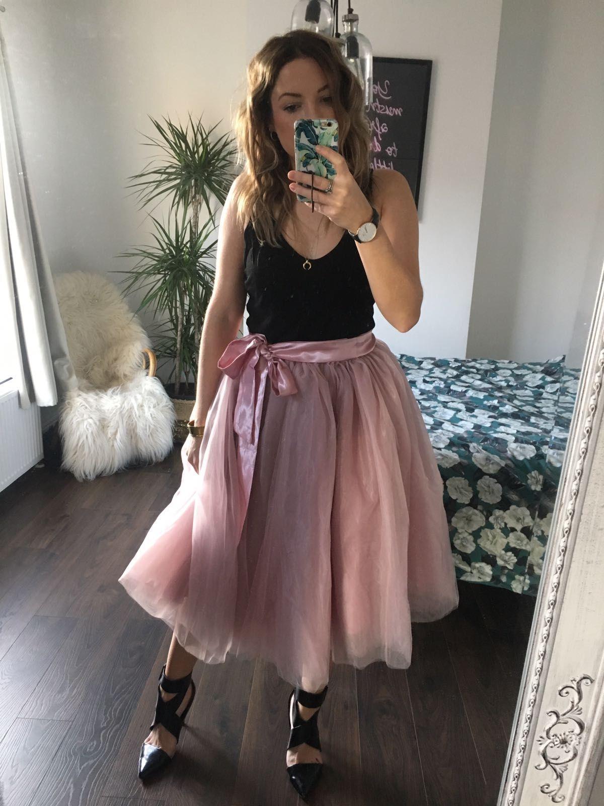 18b4b15ed3a Antique Rose Midi Tulle Tutu Skirt - Elsie s Attic