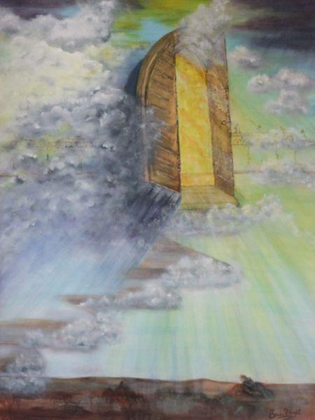 Prophetic Art – 'A Door Standing Open' | Prophetic art, Art, Bible art