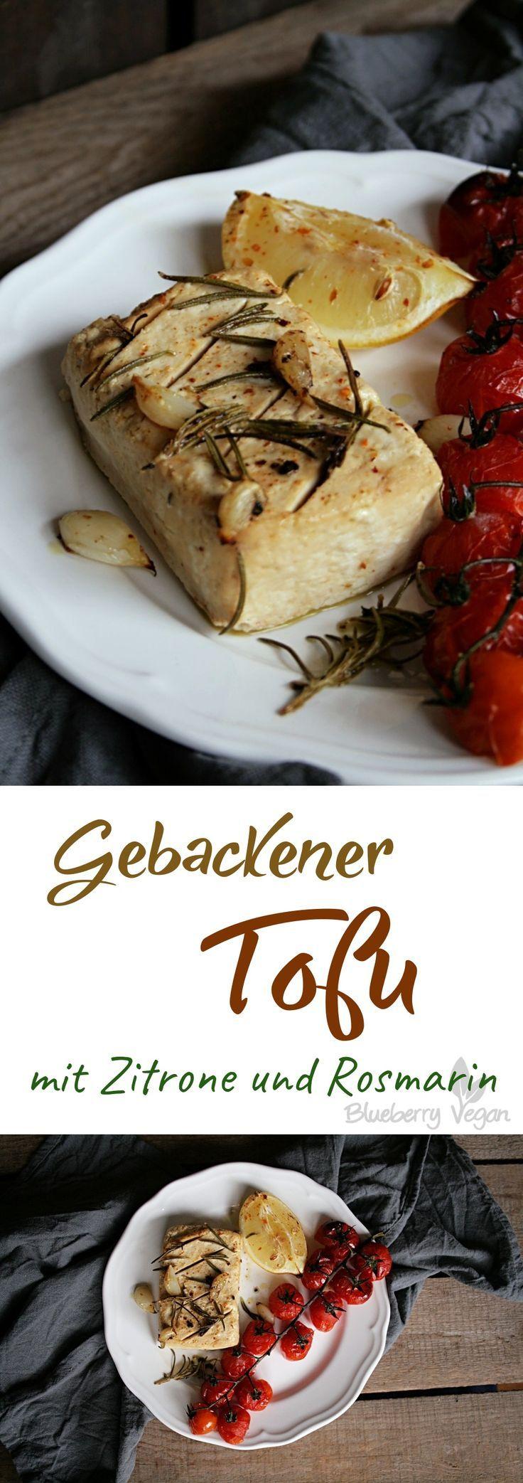 Gebackener Tofu mit Zitrone und Rosmarin #apéritifsfestifs