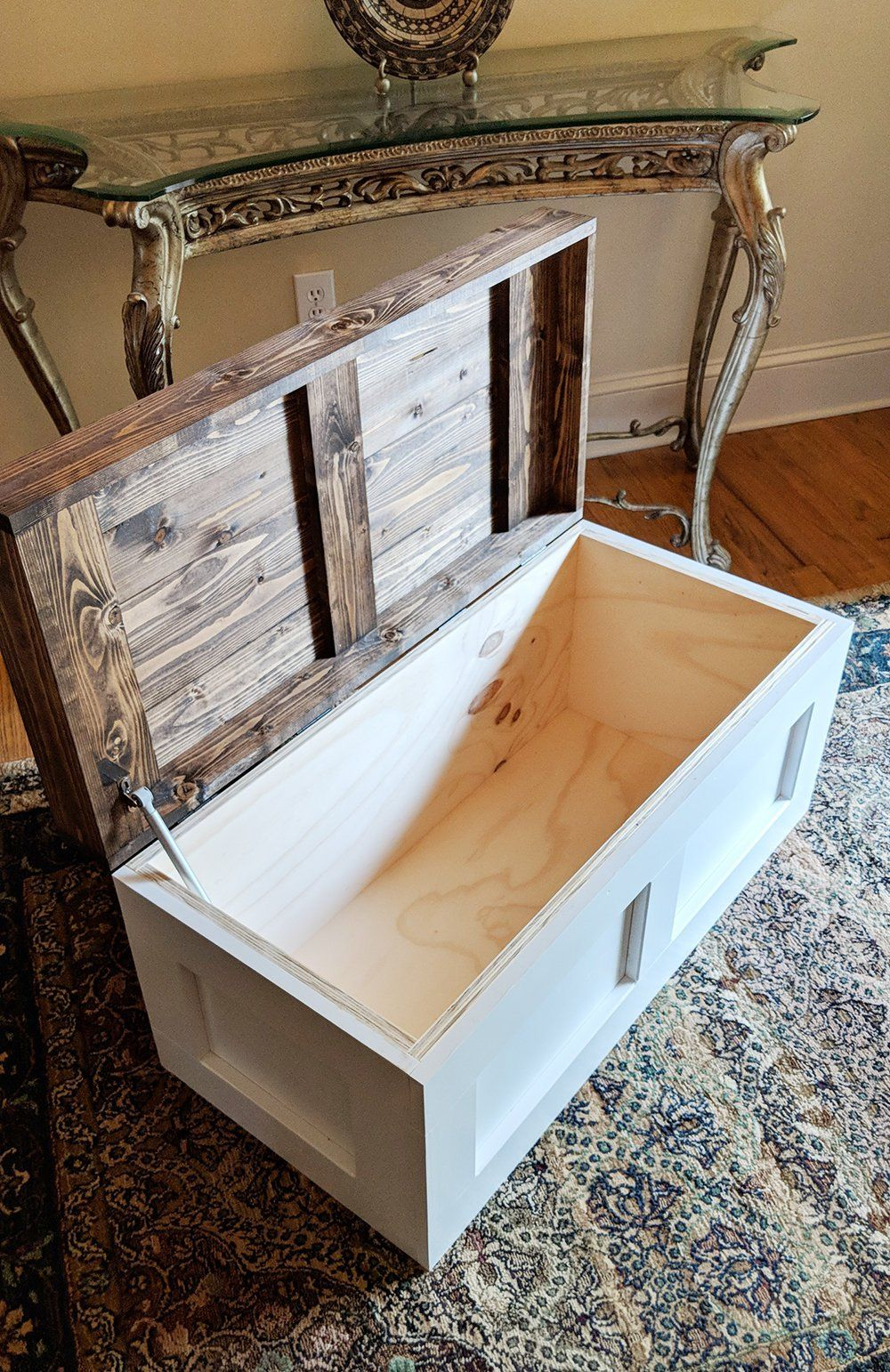 Large Wooden Toy Box Wood Blanket Chest Antique Storage Etsy