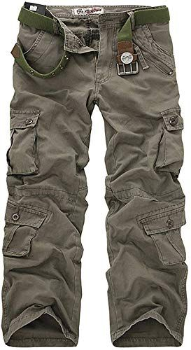 UK Men/'s CAMOUFLAGE Army Trousers Pants Combat Military Cargo Work Casual Pants