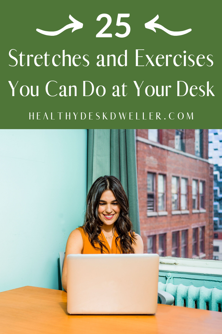 Beat your sedentary lifestyle by doing some of these easy, fun, and healthy stretches and exercises...