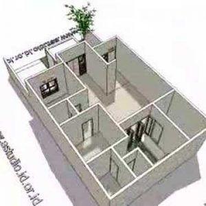 8 denah rumah 3 kamar ukuran 7x9 paling dicari | denah
