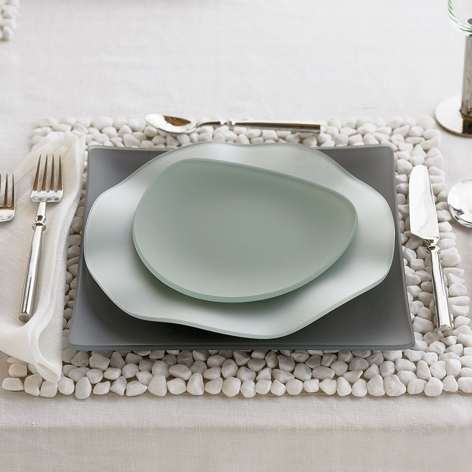 Oceana Seaglass Dinnerware - Square wave and triangle shaped these translucent plates and bowl change partners with ease to bring visual panache to your ... & Oceana Seaglass Dinnerware - Square wave and triangle shaped ...