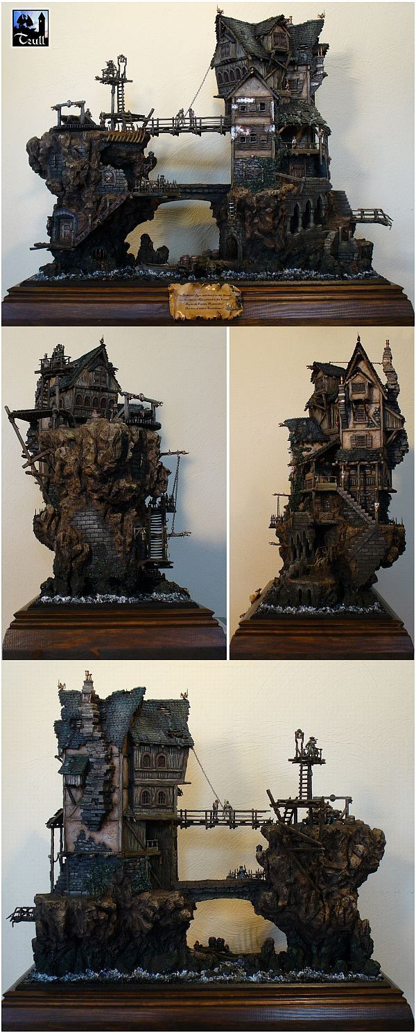"""Pirates ! "" by Trull. #diorama #Miniature_house http://fantastische-welten.blogspot.jp/p/piraten.html"