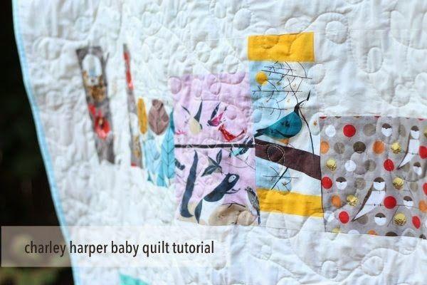 birchfabrics: Tutorial: Charley Harper Baby Quilt {by Beth of Plum and June}