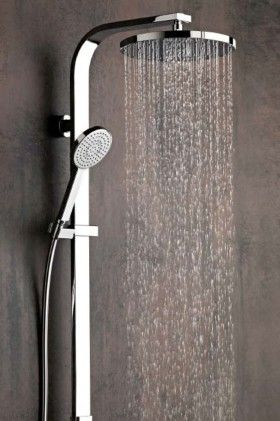 shower systems with rain head. Rogerseller  Mero Slim Shower System Bathroom Spaces
