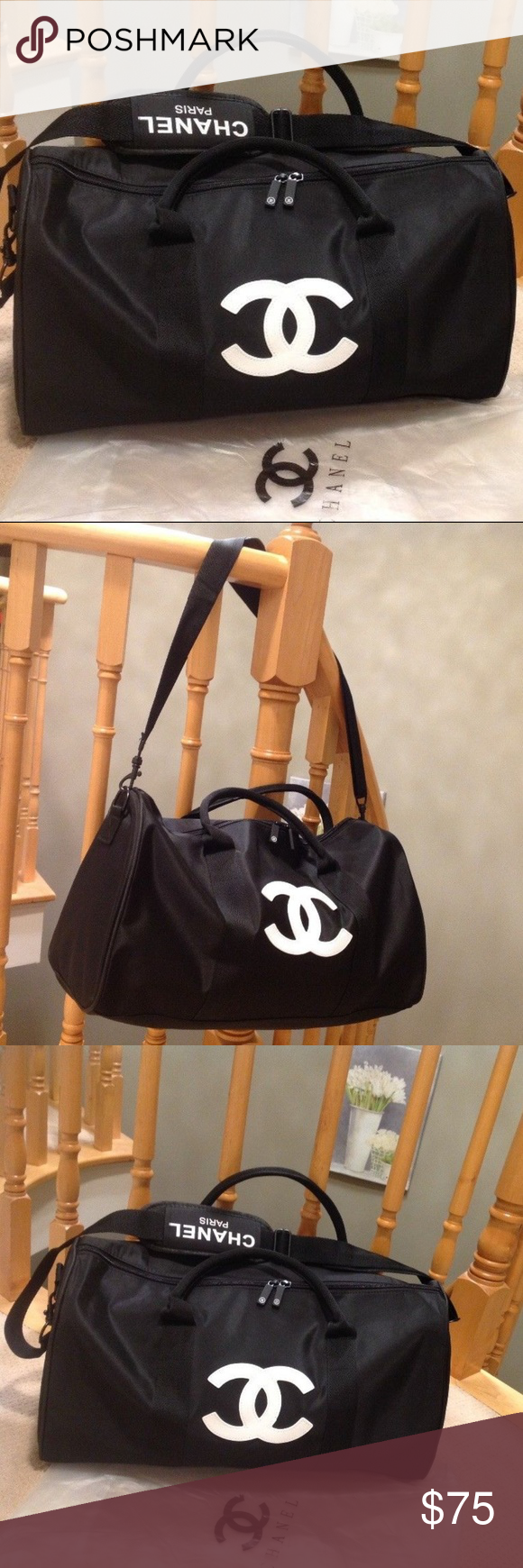 929d5d365c9c Authentic Chanel Duffle Travel Gym Weekend w/Strap CHANEL VIP GIFT ...