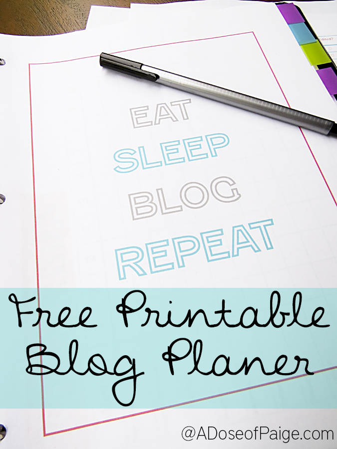 This printable blog planner has EVERYTHING!