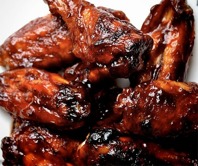 Super Smokers Sweet and Spicy Chicken Wings The sweetness comes from honey and the kick comes from using the hottest, spiciest barbecue sauce your taste buds can handle Extra Tip: Those wings had to have been grilled or baked beforehand. At 225 degrees, the smoker isn't hot enough to render the fat in the wings …