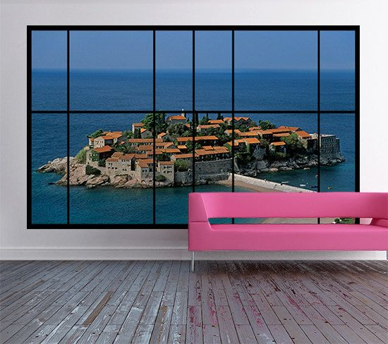 AWM-L6 window view of Aman Sveti Stefan resort in by ArtFeverUK