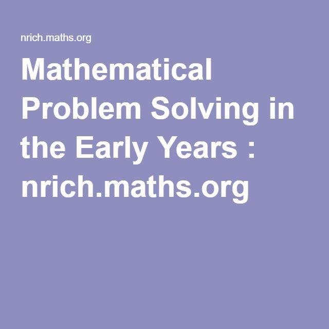nrich problem solving eyfs