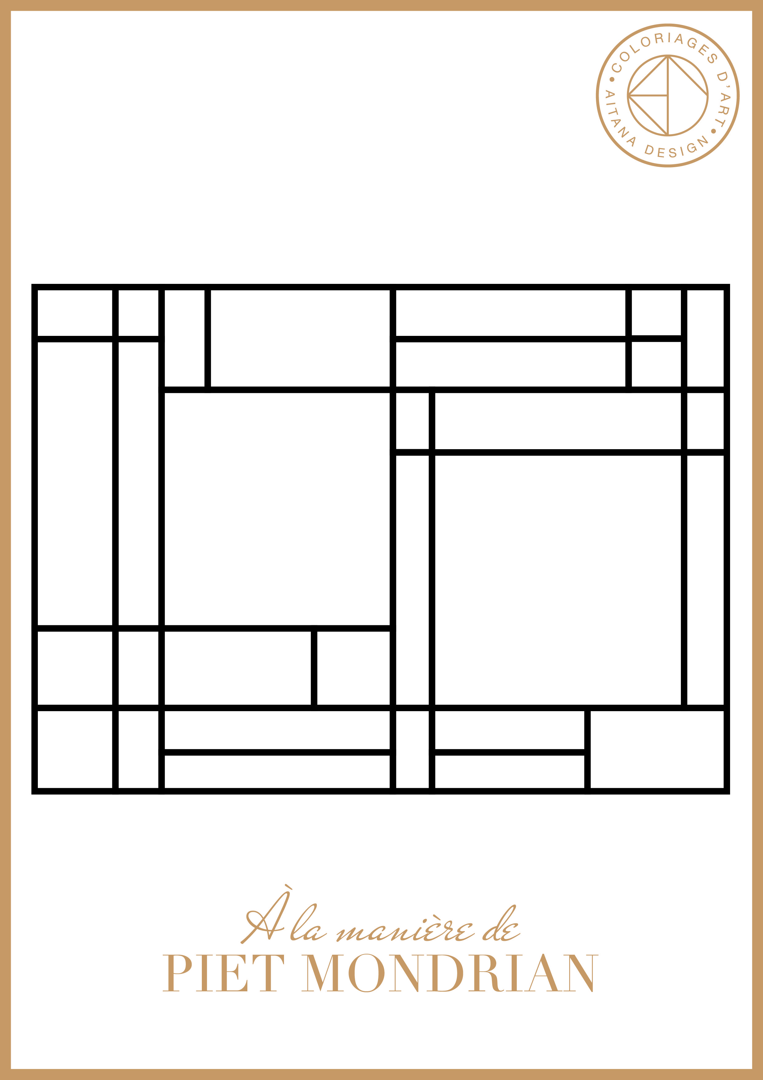 les coloriages histoire de l 39 art a tana design a la mani re de mondrian pinterest. Black Bedroom Furniture Sets. Home Design Ideas