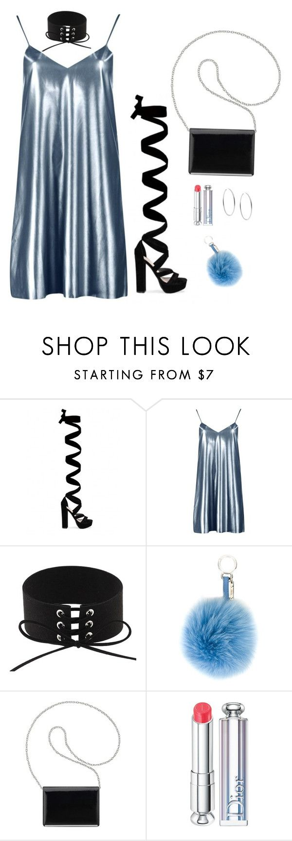 """""""Untitled #440"""" by hayleyl22 ❤ liked on Polyvore featuring Boohoo, Fendi, Nine West, Christian Dior and Michael Kors"""