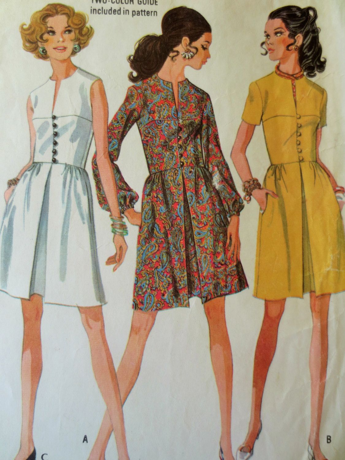 Vintage Mccall S 9709 Sewing Pattern 1960s Dress Pattern Inverted Pleat Bust 36 1960s Sewing Pattern Midriff Interest Vintage Sewing Vintage Dress Patterns Vintage Outfits Vintage Sewing Patterns