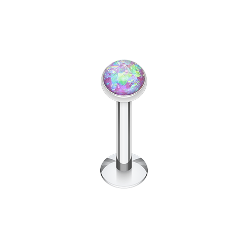 Purple Opal Glitter Labret/Monroe/Tragus - Body Empire