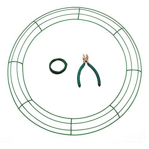 Metal Wire Wreath Frame 12 Green Wire Wreath Frame Mesh Wreaths Deco Mesh Wreaths