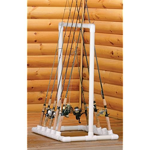 Pvc project ideas pvc pipe projects fish easy and pvc for Homemade fishing rod storage rack