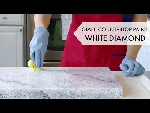 Giani White Diamond Countertop Paint Kit Diy Kitchen Remodel Diy Countertops Painting Countertops