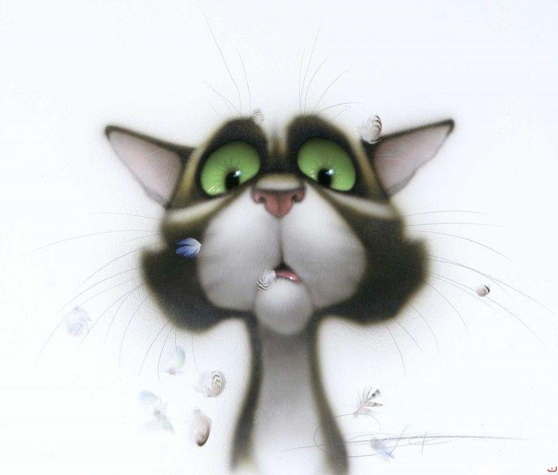 Кошки рисованные картинки прикольные, картинки губами открытки