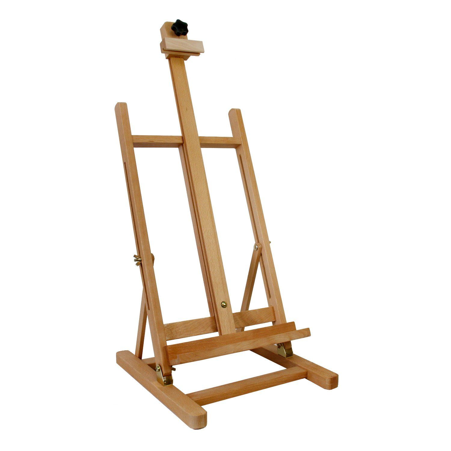 Art Supply Adjustable Easel Beech Tabletop H-Frame Studio Artist Wood Portable