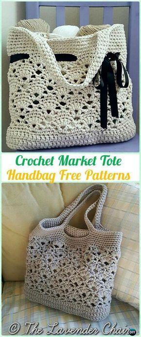 Häkelarbeit Markt Tote Handtasche Freies Muster - #Crochet ...