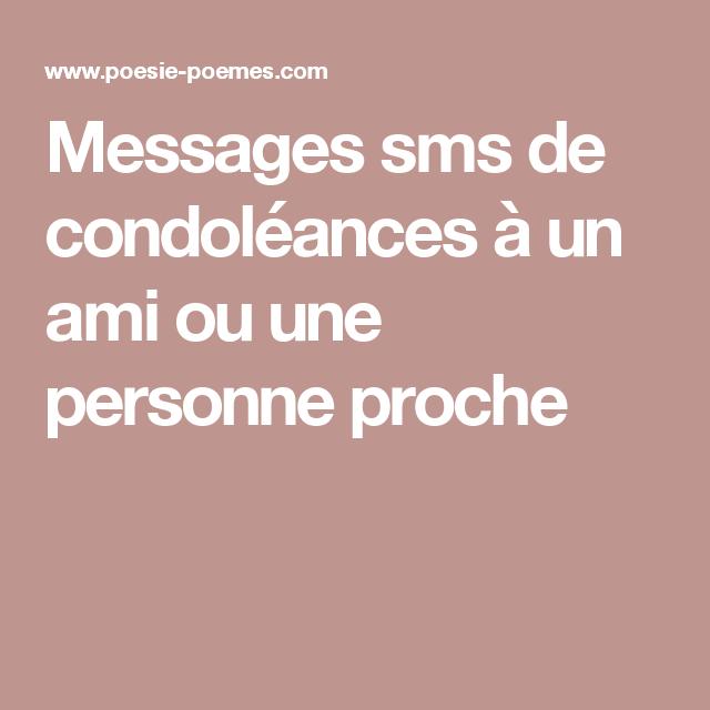 Modèles de Formules types de Condoléances par messages sms | Sms de condoléances, Message sms ...