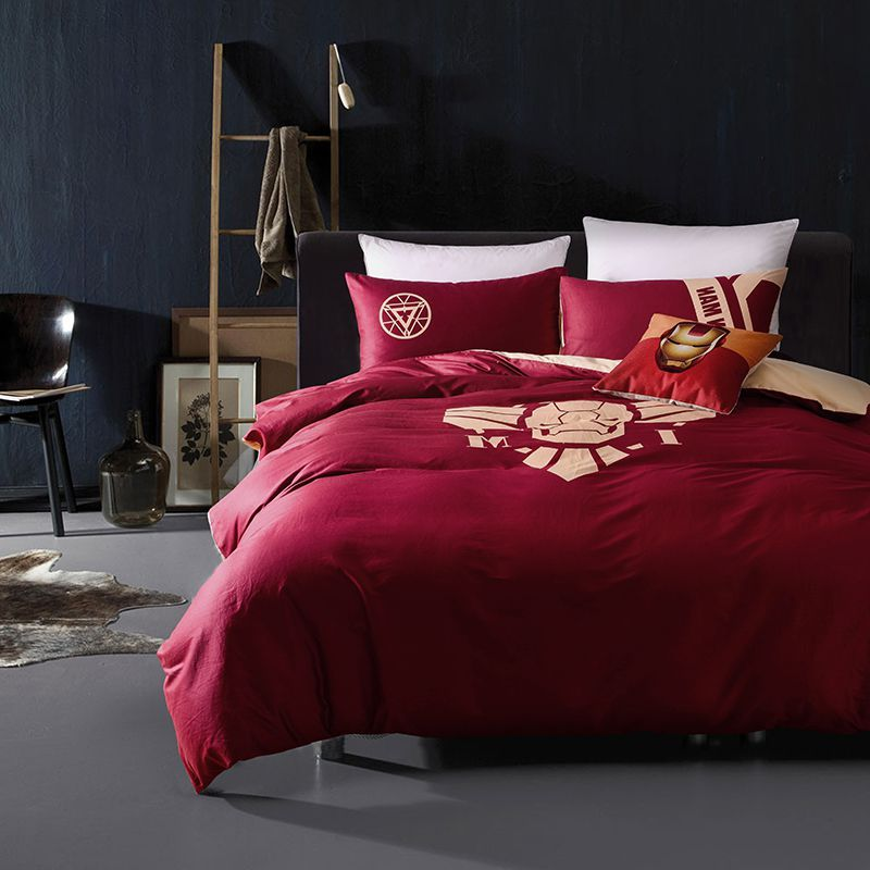 Iron Man Bedding Queen Set Superhero Bedroom Decor Comforter Extra Fast Free Shipping For All Worldwide Orders Made From 100 Cotton Soft Material