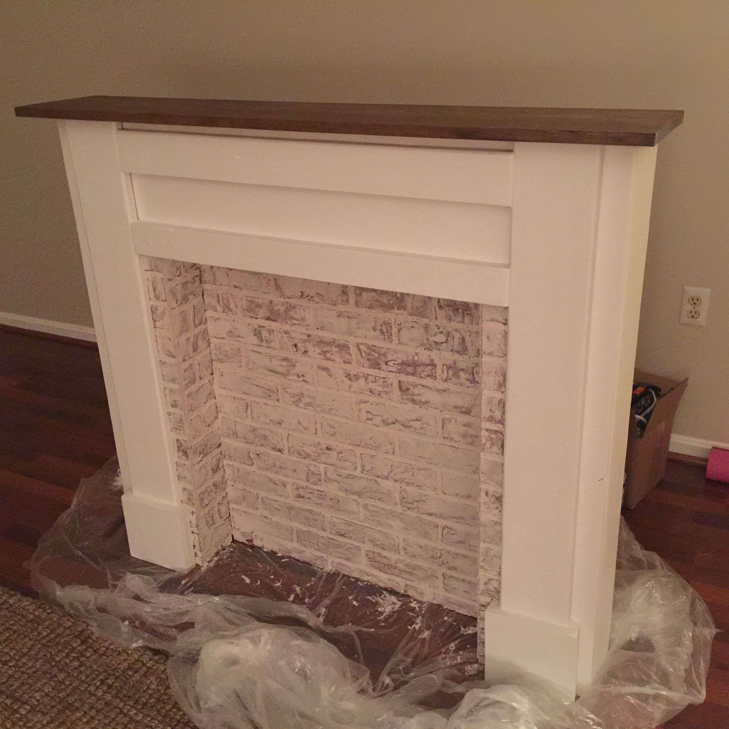 Ana white faux fireplace mantel diy projects fireplace project
