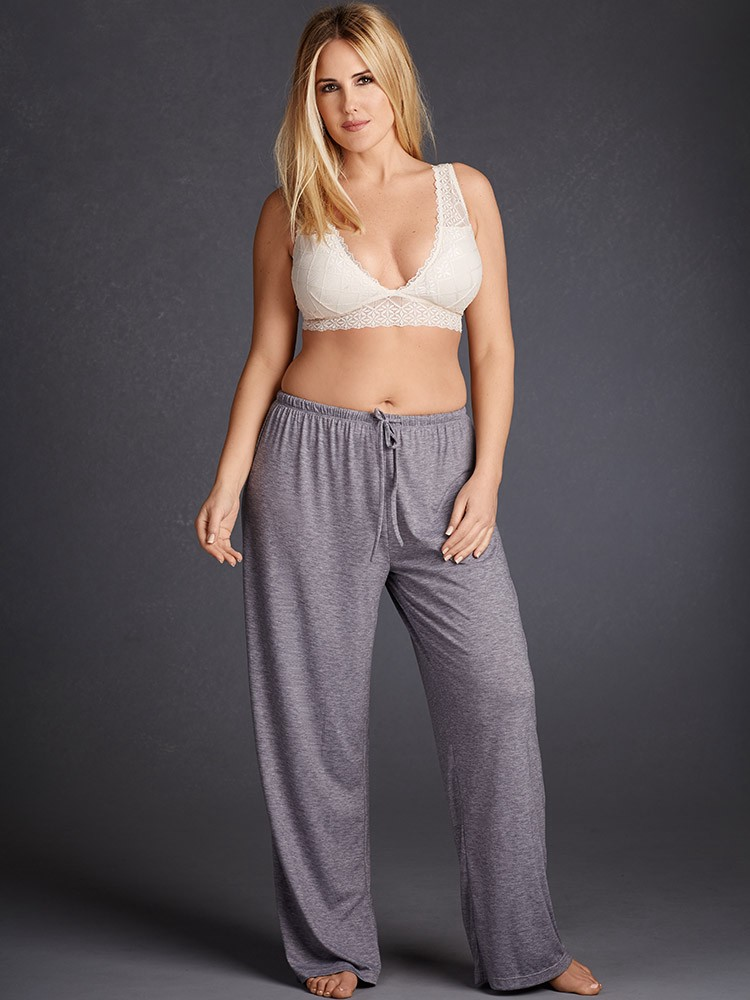 aa47afd1c27 Hips And Curves Super Soft Comfy Pajama Pants - Heather Grey  (  12.98 )  Large