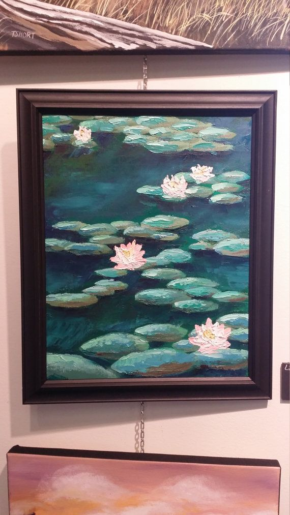 Check out this item in my Etsy shop https://www.etsy.com/ca/listing/263663555/lilies-on-the-water
