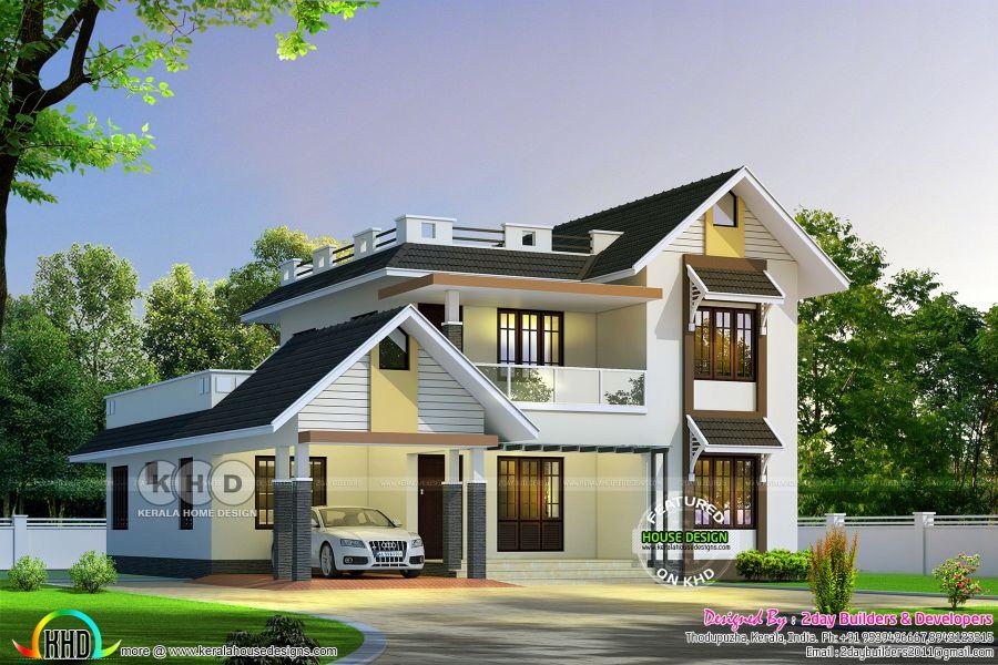Pin By Askar Fiza On Sloped Roof Modern Bungalow Modern Bungalow House Modern House