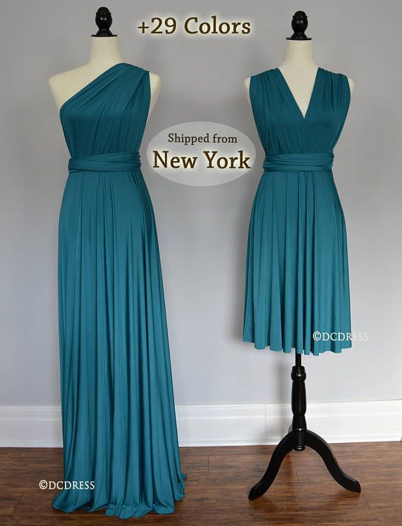 Teal Green Wrap Dress Convertible Bridesmaid Dresses Infinity Etsy Teal Bridesmaid Dresses Infinity Dress Bridesmaid Convertible Bridesmaid Dress