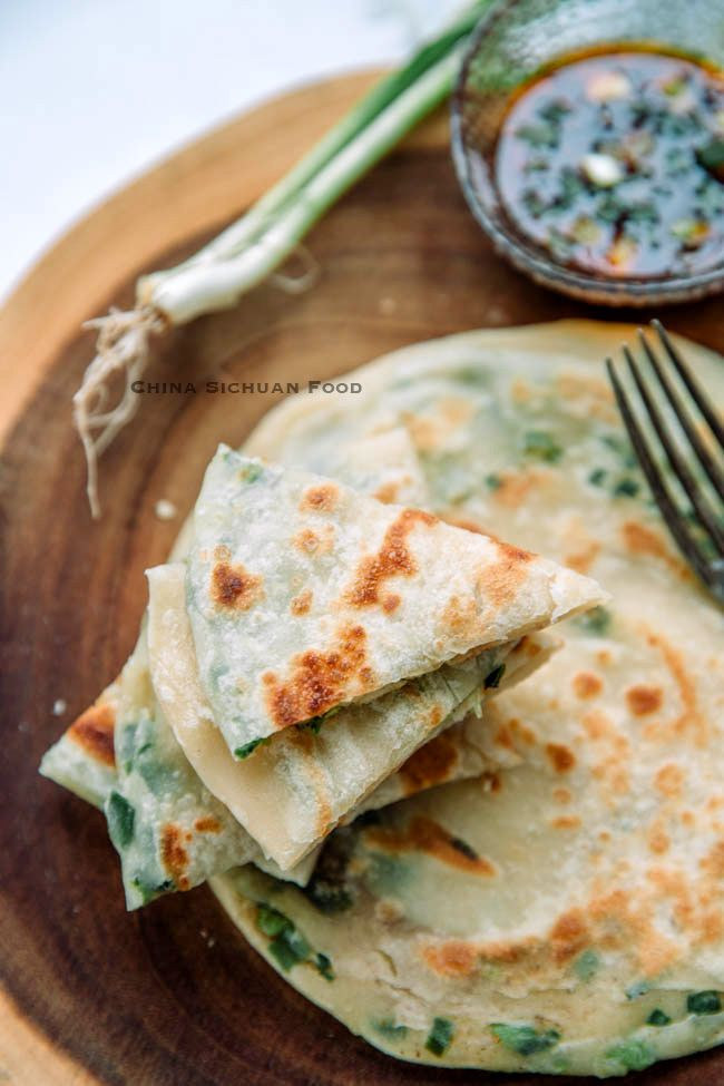 Chinese Scallion Pancakes #chinesefood