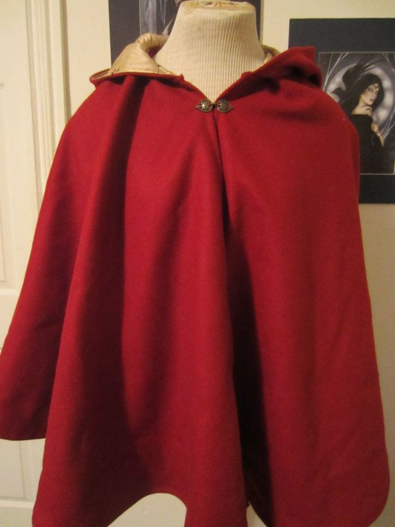 c820a3612e Red Wool Full Circle Short Cloak Ready to by CamelotCreationscom ...