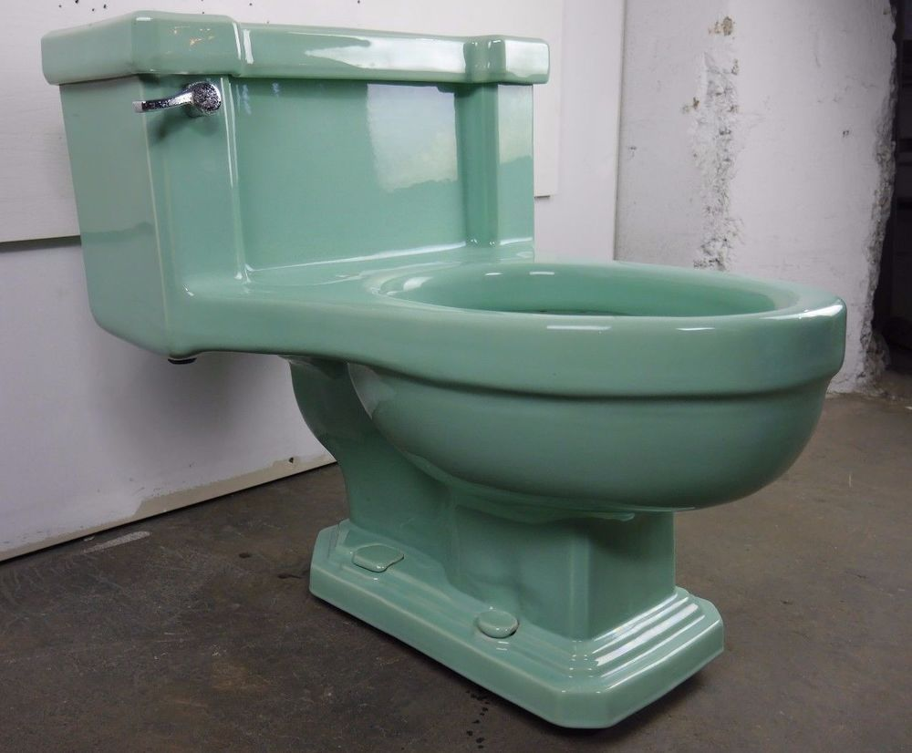 Antique Vintage American Standard Ming Green Toilet 1940s F2000 ...