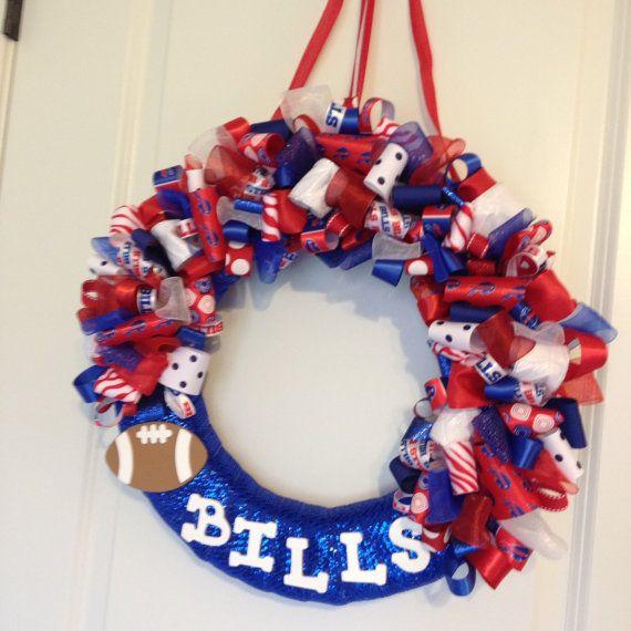 afa41cd7 Buffalo Bills Bow Wreath by CraftyCreationsbyCG on Etsy | Random ...