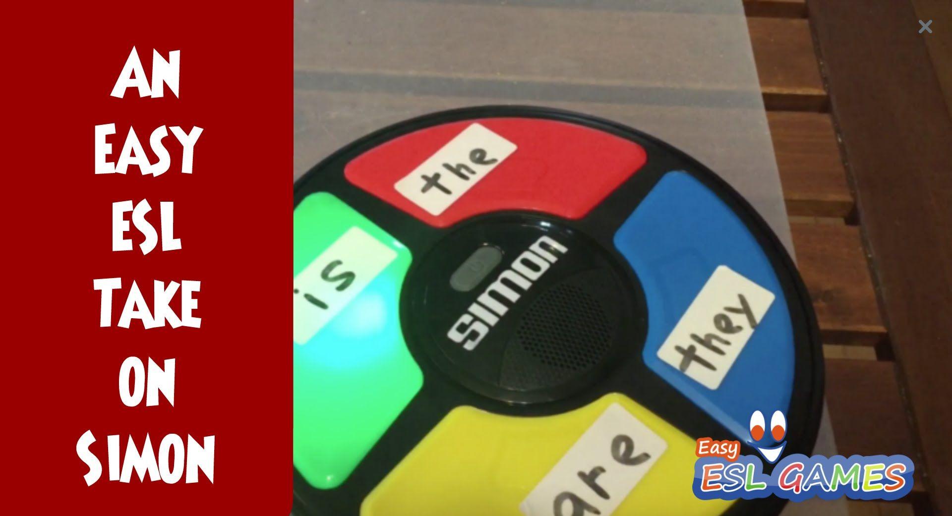 "An Easy ESL Games take ""Simon"" Easy ESL Games in Class"