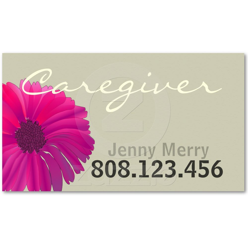 Flower Caregiver Business Card template from Zazzle.com ...