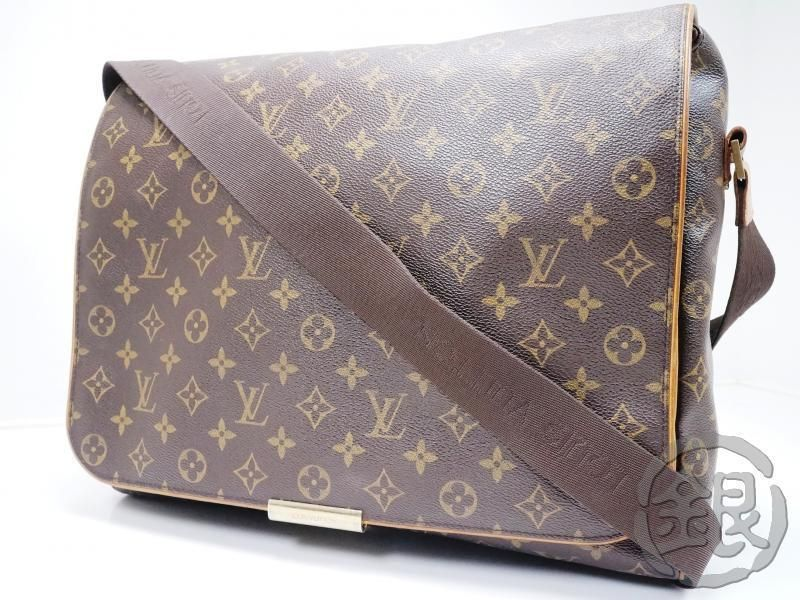 5821214b160a AUTH PRE-OWNED LOUIS VUITTON MONOGRAM ABBESSES LARGE MESSENGER BAG M45257  160691…