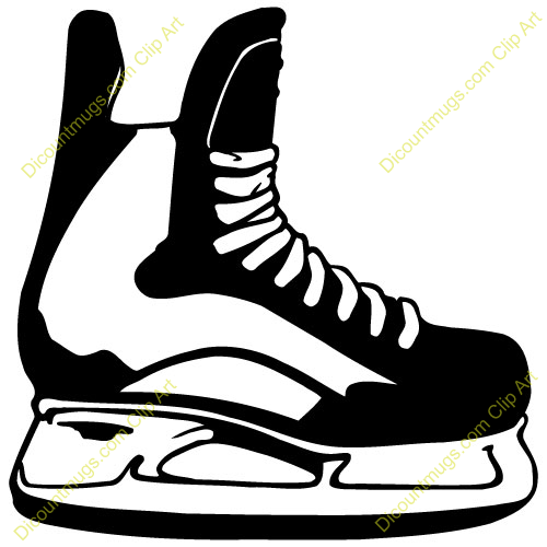 Rare image in hockey skate template free printable