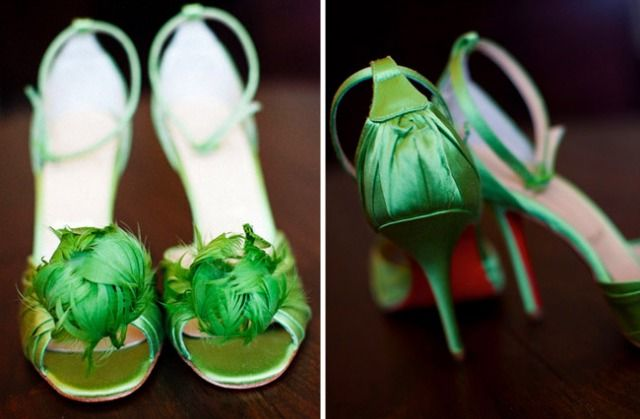 More green shoes for a St. Patrick's Day Wedding!