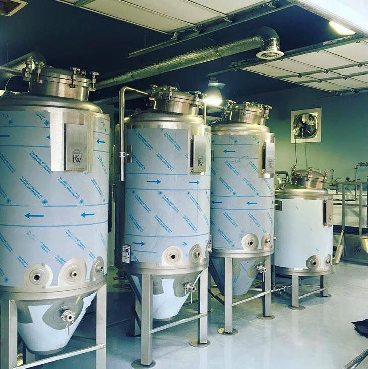 A beautiful line up of portland kettle works fermentation for Craft kettle brewing equipment