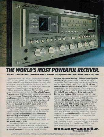 Marantz 2500 Vintage Audio Ads Marantz Audio Room Hifi Audio
