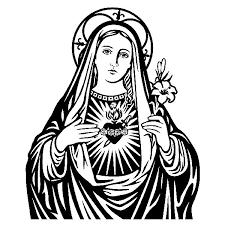 Resultado De Imagen Para Virgen Maria Blanco Y Negro Repujado En