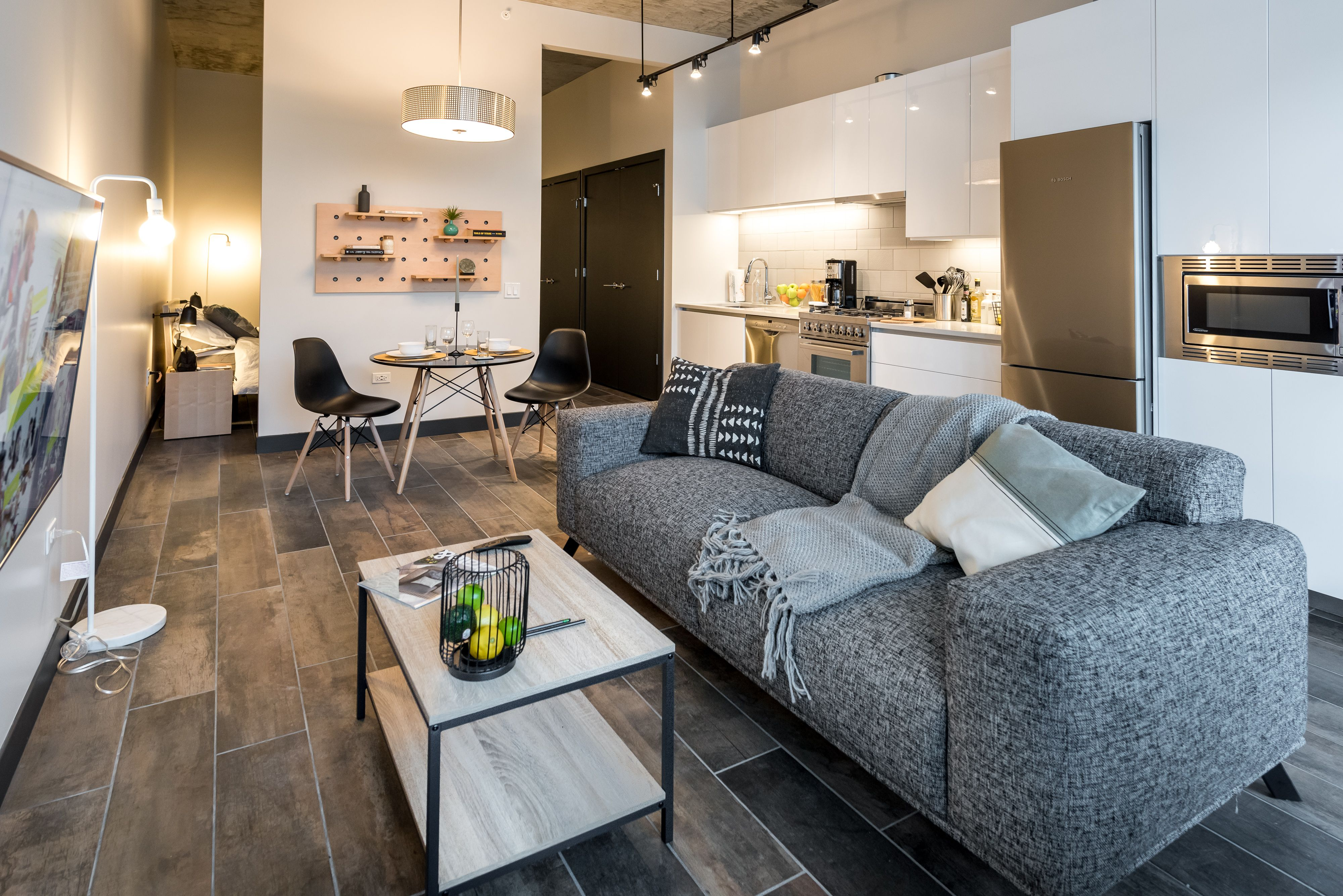 Quarters Co Living Apartments For Rent Chicago Living Room White Living Room Grey Living Room Flooring