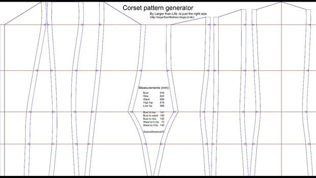 The Corset Pattern Generator Sewing Patterns Pinterest Corset